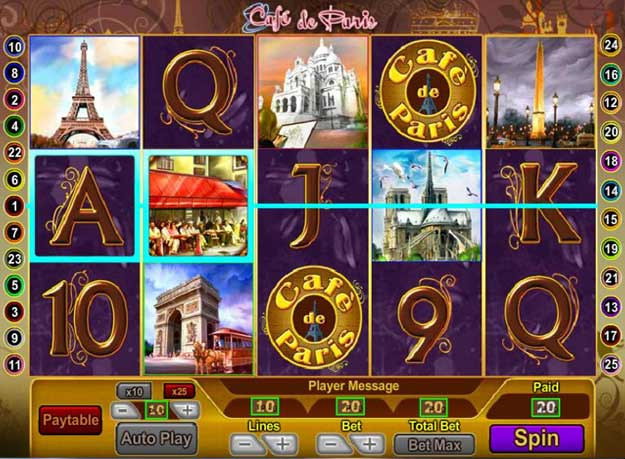 Cafe De Paris Slots