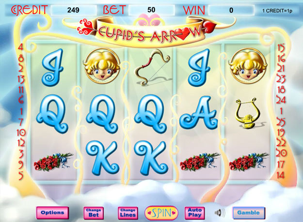 Cupid's Arrow Progressive Slot Screenshot