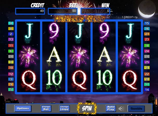 Fireworks Frenzy Slot Machine - Free to Play Casino Game