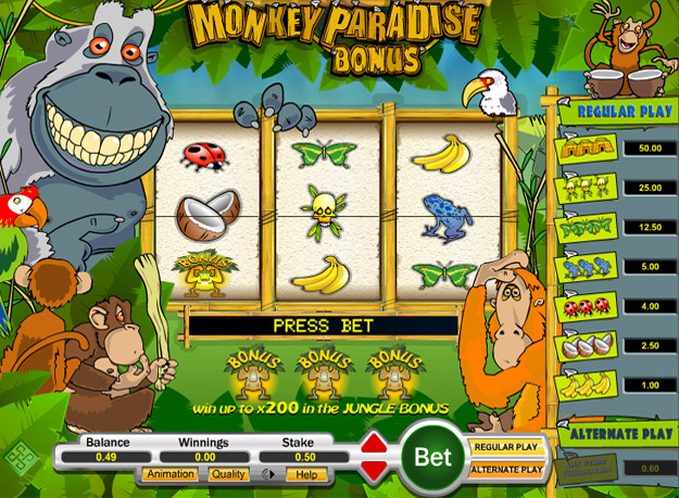 Monkey Paradise Slots Screenshot