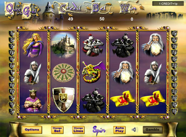 Quest for the Grails Slots Screenshot