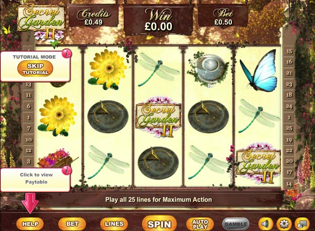 Secret Garden 2 Slots Screenshot