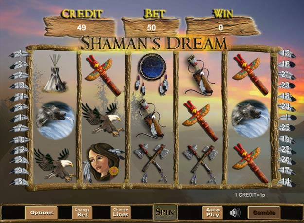 Shaman's Dream Slots Screenshot