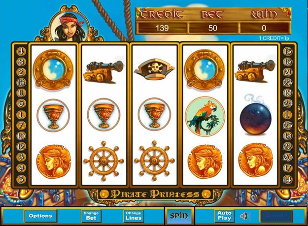 Pirate Princess Slots Screenshot