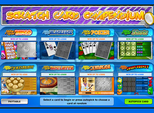 compendium Scratch Cards Screenshot