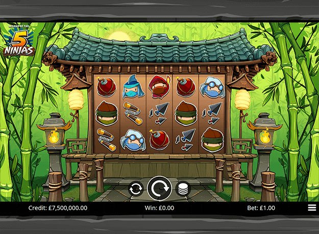 Legend of the Five Ninjas  Slots
