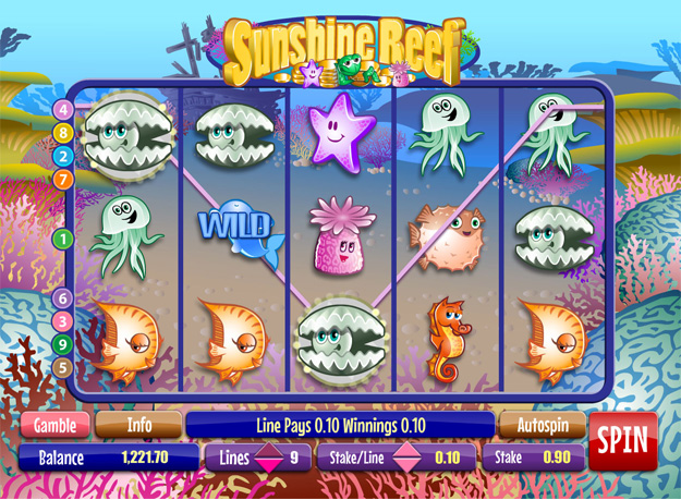 Sunshine Reef Slots Screenshot