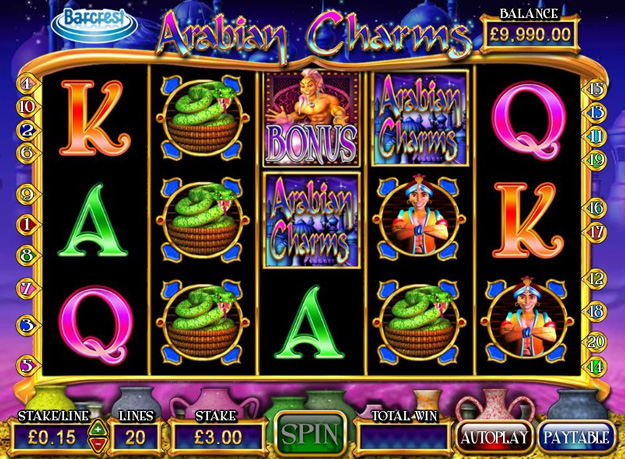Arabian Charms Slots Screenshot