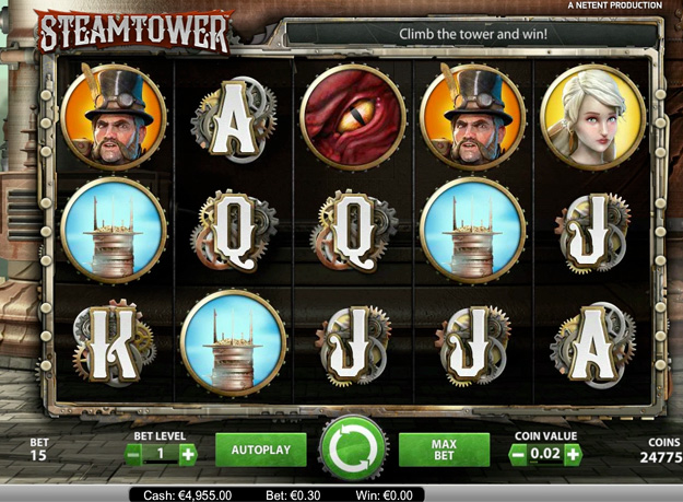 Steam Tower Slots Screenshot