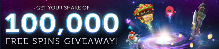 Get your 100,000 Free Spins