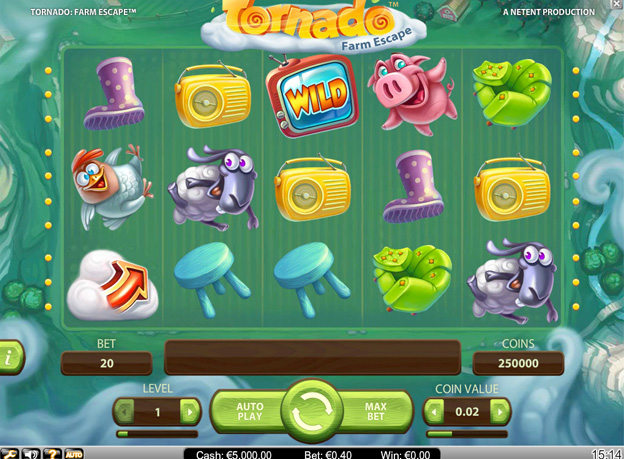 Tornado Farm Escape Slots Screenshot