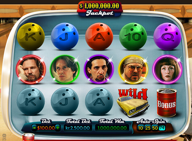 The Big Lebowski Slots Screenshot