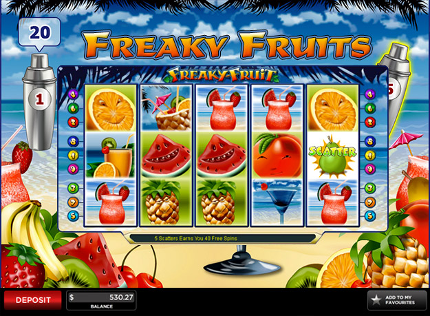 Freaky Fruit Slots Screenshot