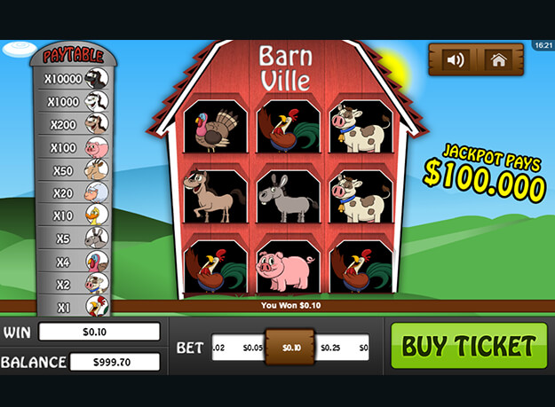 Barn Ville Scratch Cards Screenshot