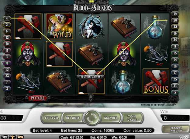 Bloodsuckers Slots Screenshot
