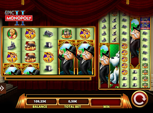 Epic Monopoly II Slot Screenshot