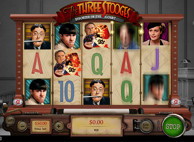 The Three Stooges - Disorder in the Court Slot Screenshot